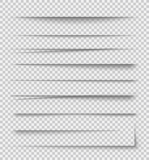 transparent realistic paper shadow effects on checkered background. element for advertising and promotional message... - stock vector. - тень stock illustrations
