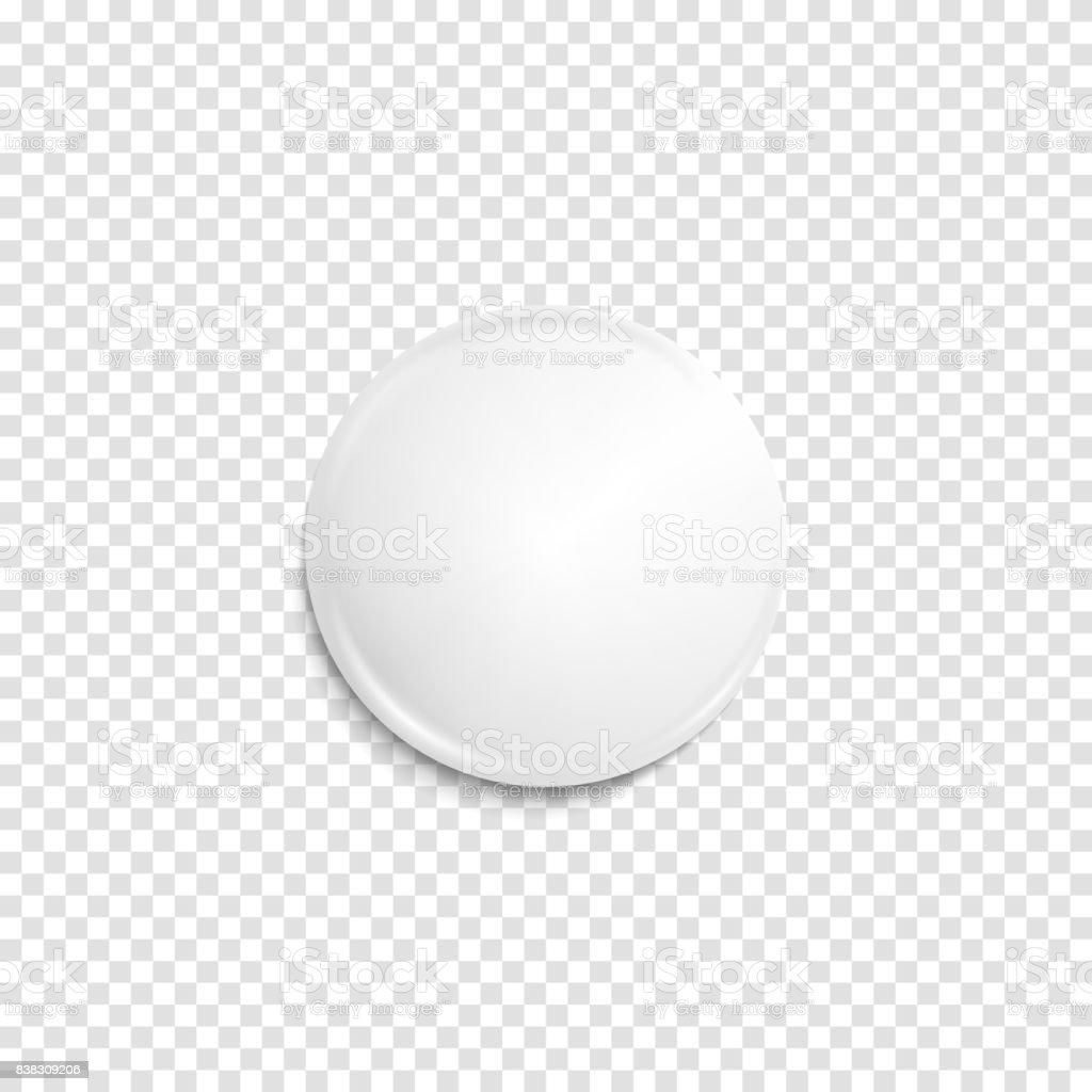 Distintivo blanco realista transparente - ilustración de arte vectorial