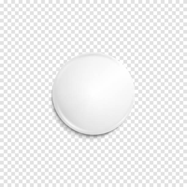 illustrazioni stock, clip art, cartoni animati e icone di tendenza di distintivo bianco realistico trasparente - sfera lucida