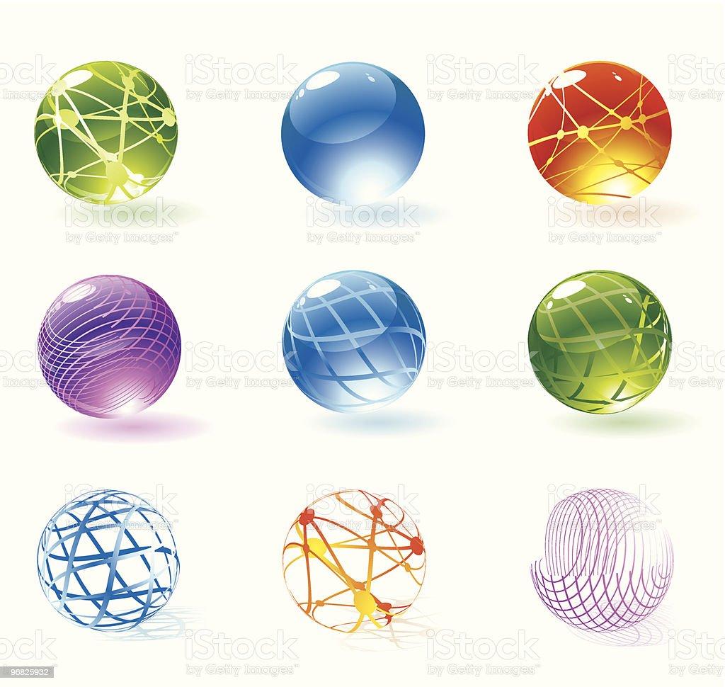 Transparent refracting spheres royalty-free stock vector art