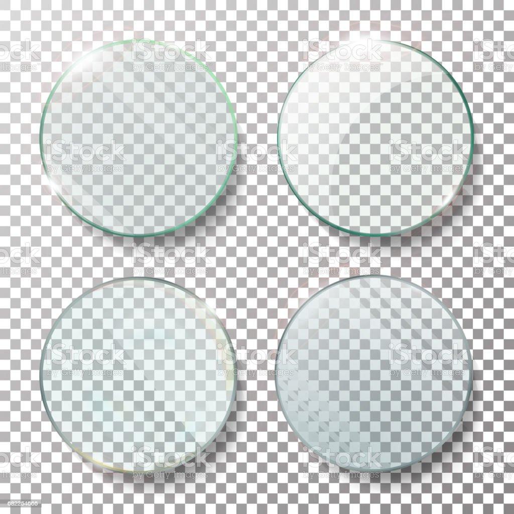 Ilustración Realista Del Vector Set Círculo Redondo Transparente ...