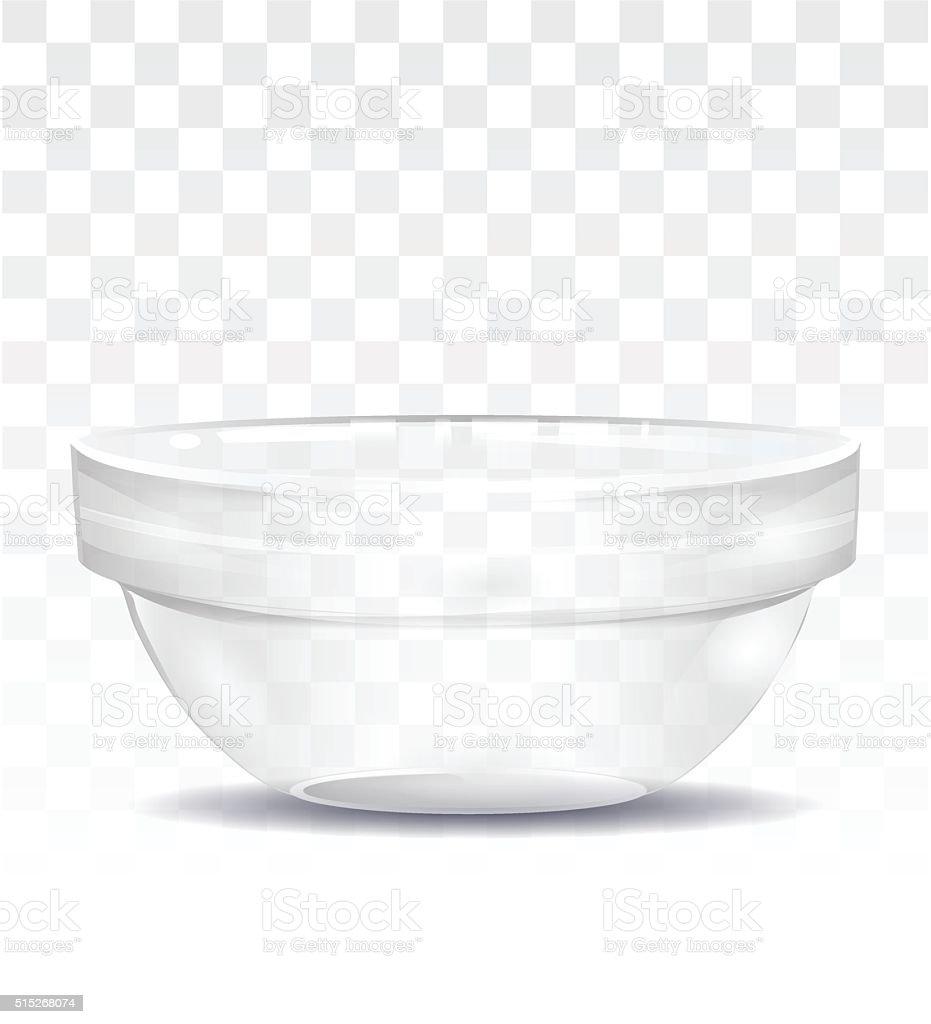 Transparent  salad bowl. vector art illustration