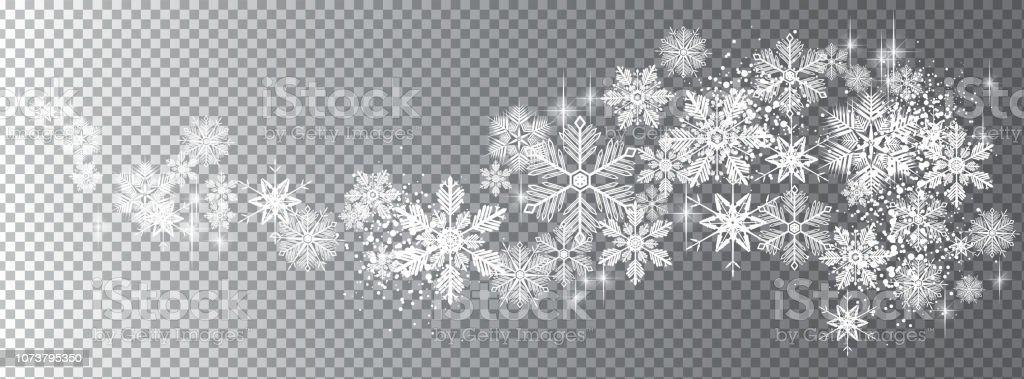 Transparente Schnee Wellenvorlage - Lizenzfrei Banneranzeige Vektorgrafik