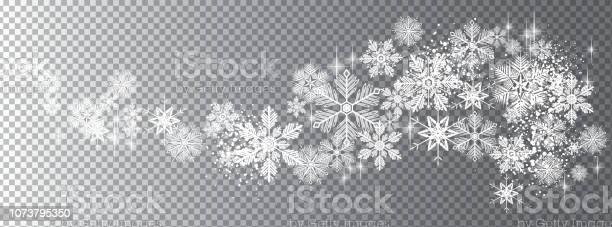 Transparente Schnee Wellenvorlage Stock Vektor Art und mehr Bilder von Banneranzeige