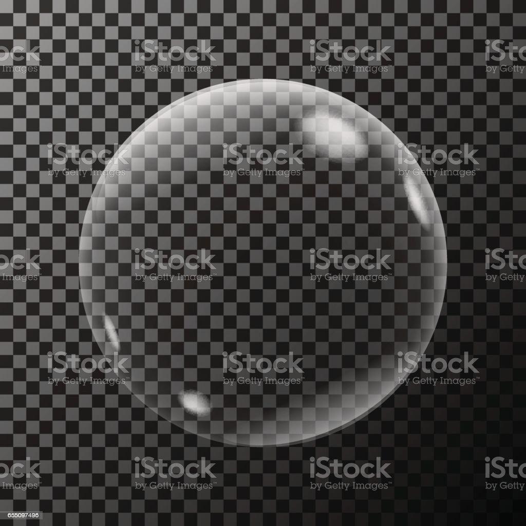 Transparent soap bubble vector art illustration