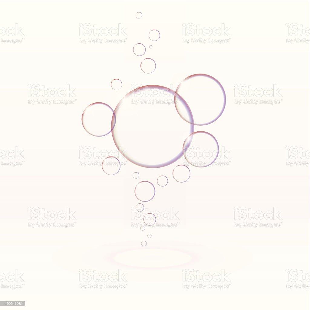Transparent soap bubbles, eps10 vector royalty-free stock vector art