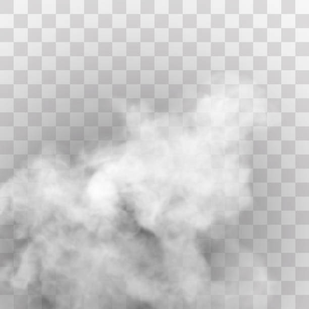transparent special effect stands out with fog or smoke. white cloud vector, fog or smog. - smoke stock illustrations