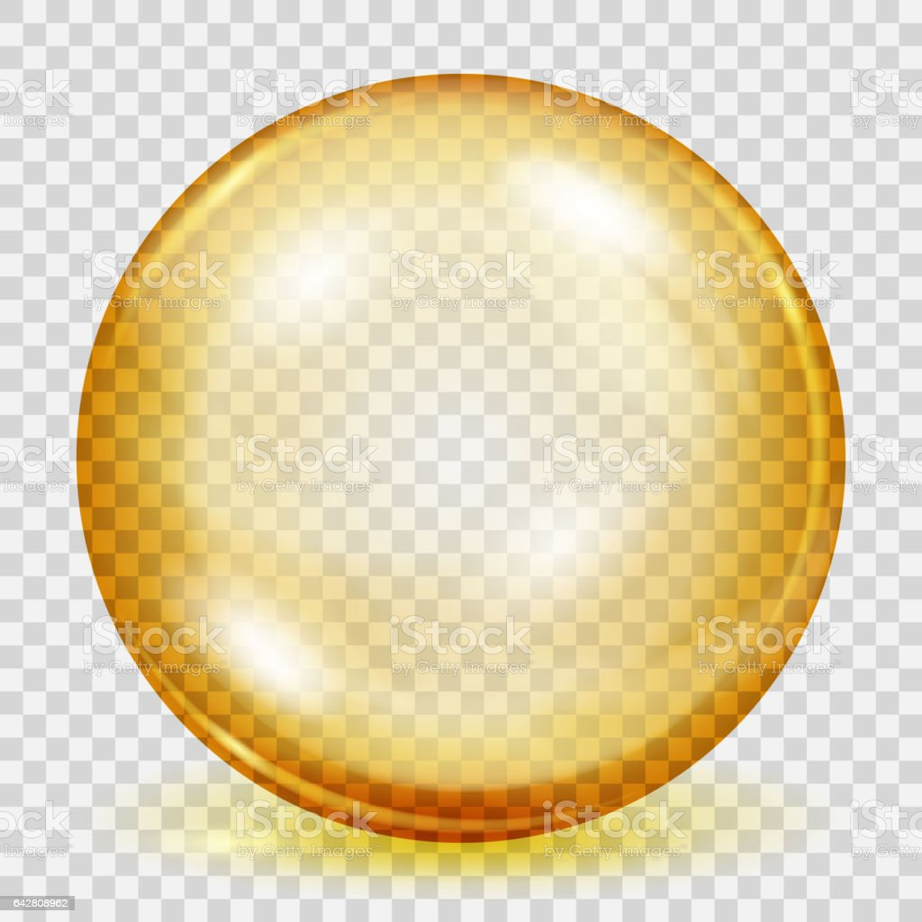 Transparent sphere with shadow vector art illustration