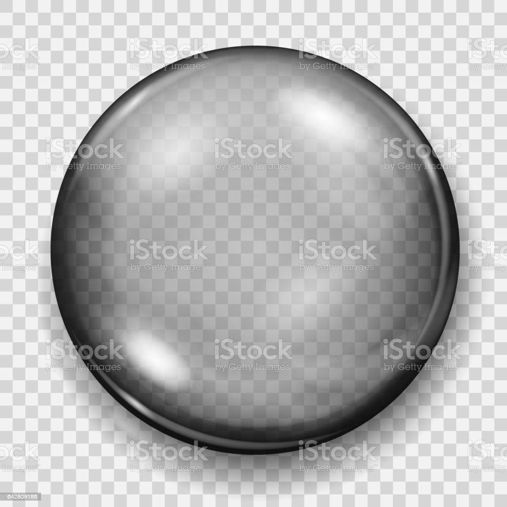 Esfera transparente con sombra - ilustración de arte vectorial