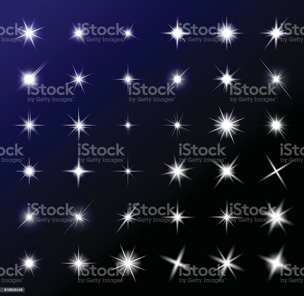 transparent star vector symbol icon design. vector art illustration