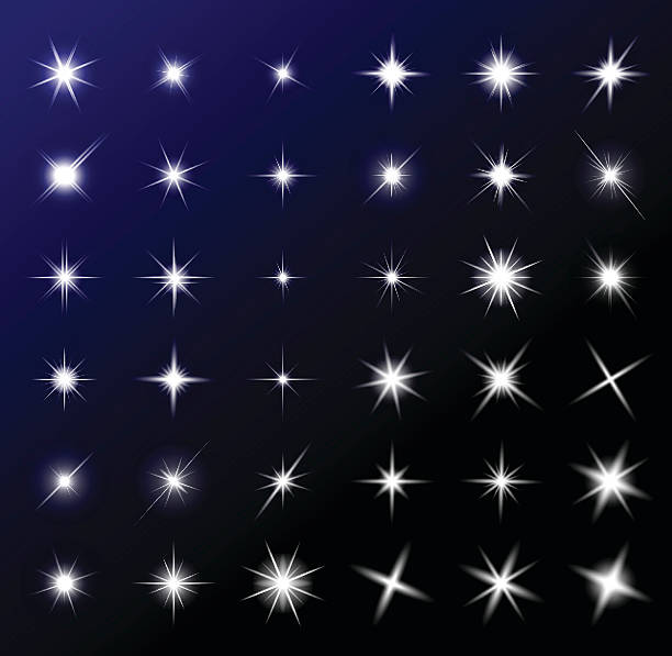 transparent star vector symbol icon design. transparent star vector symbol icon design. Beautiful illustration of glowing light effect stars bursts with sparkles on transparent background for christmas card blinking stock illustrations