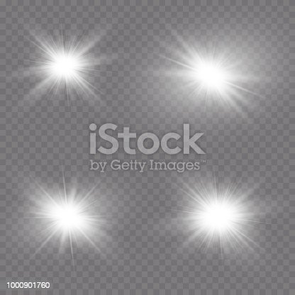 0f48478cd1 Transparent Sunlight Lens Flare Light Effect Star Burst With Sparkles  Vector Illustration Stock Vector Art   More Images of Abstract 1000901760