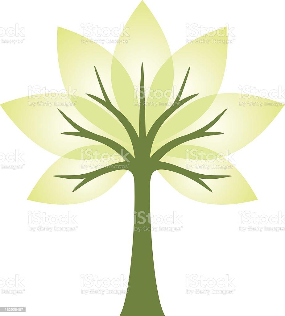 transparent tree vector art illustration