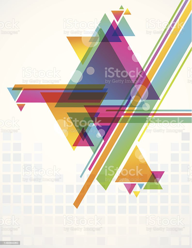 Transparent Triangles royalty-free stock vector art