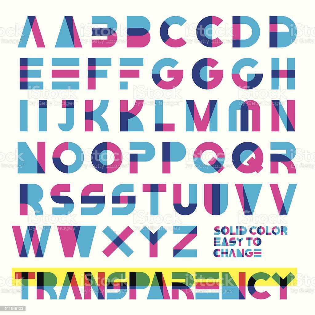 transparent typeset vector art illustration