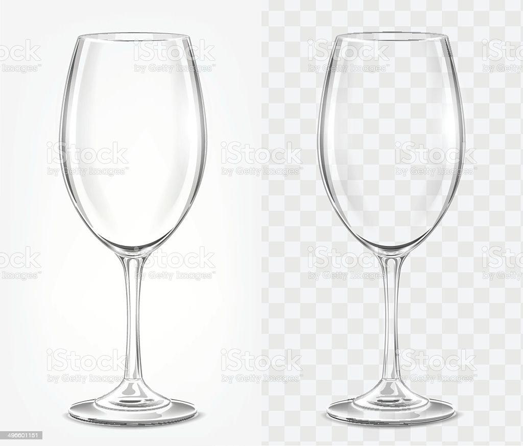Transparent vector wineglass for light background vector art illustration