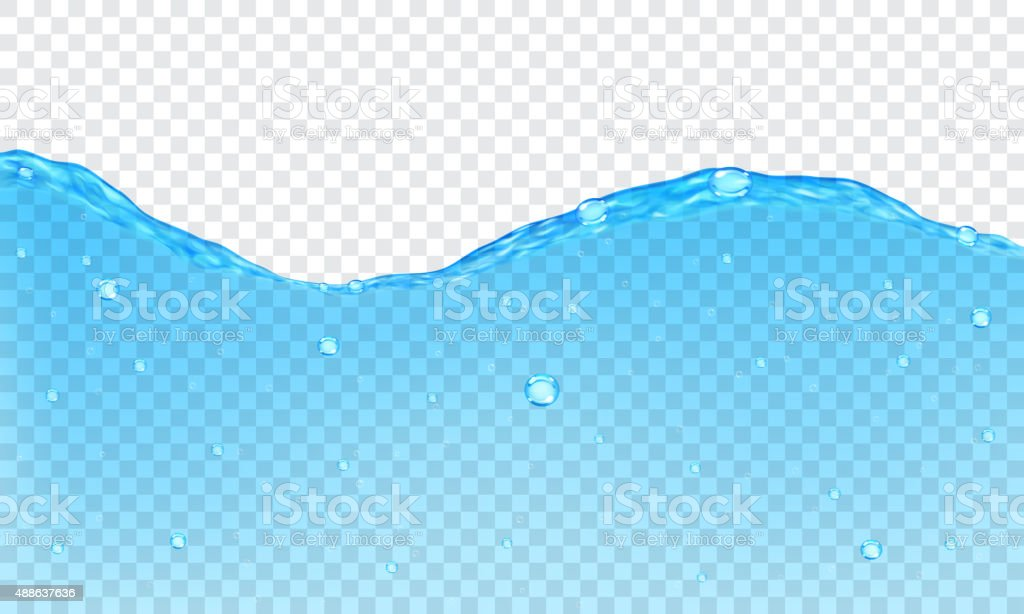 Transparent water background vector art illustration