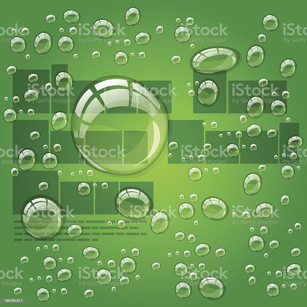 Transparent water drops royalty-free stock vector art