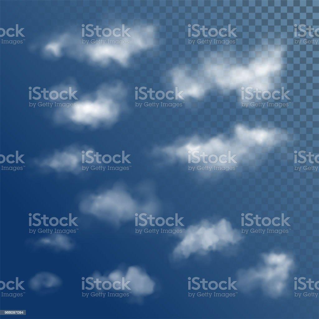 Transparent White Vector Clouds - Векторная графика Абстрактный роялти-фри