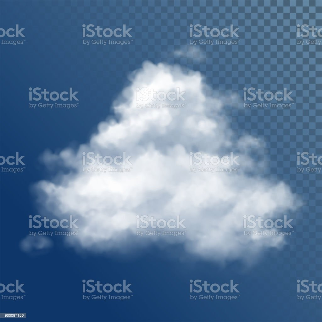 Transparante witte Vector wolken - Royalty-free Abstract vectorkunst