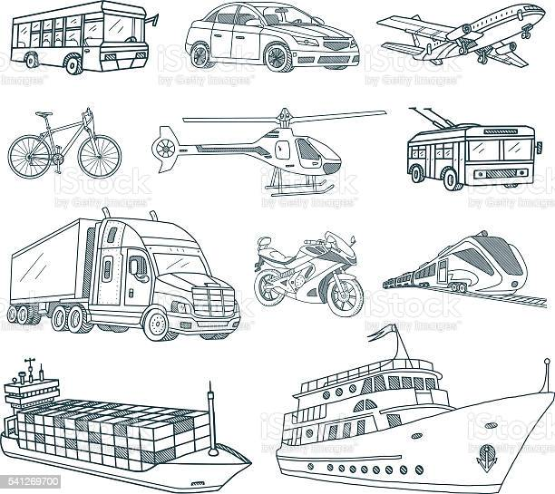 Sketchy Transportation Vector Art Graphics Freevector Com
