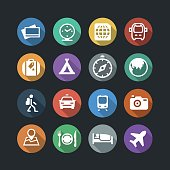 Transport and Travel Flat Icons