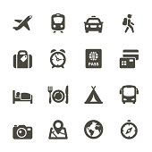 Icon set for Web and Mobile App. Rounded Set 4
