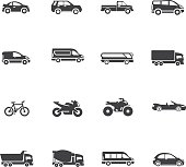 Transport And Vehicle Icon Set