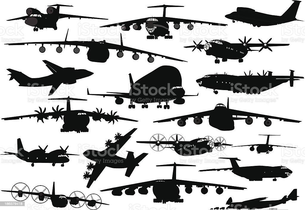 Transport aviation vector art illustration