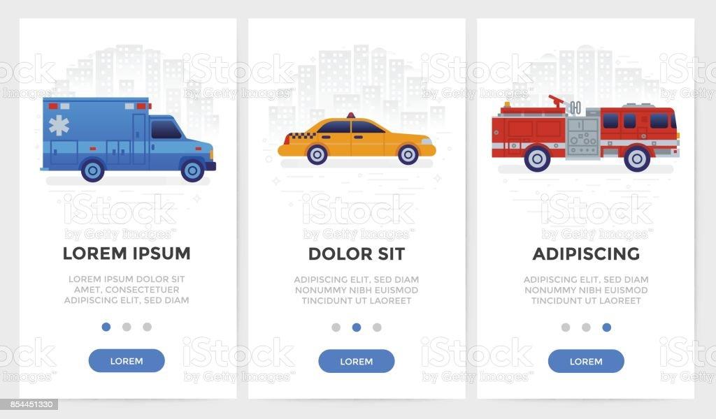 Transport Icon for Mobile Application vector art illustration
