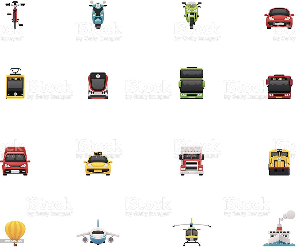 Transport icon set royalty-free transport icon set stock vector art & more images of air vehicle