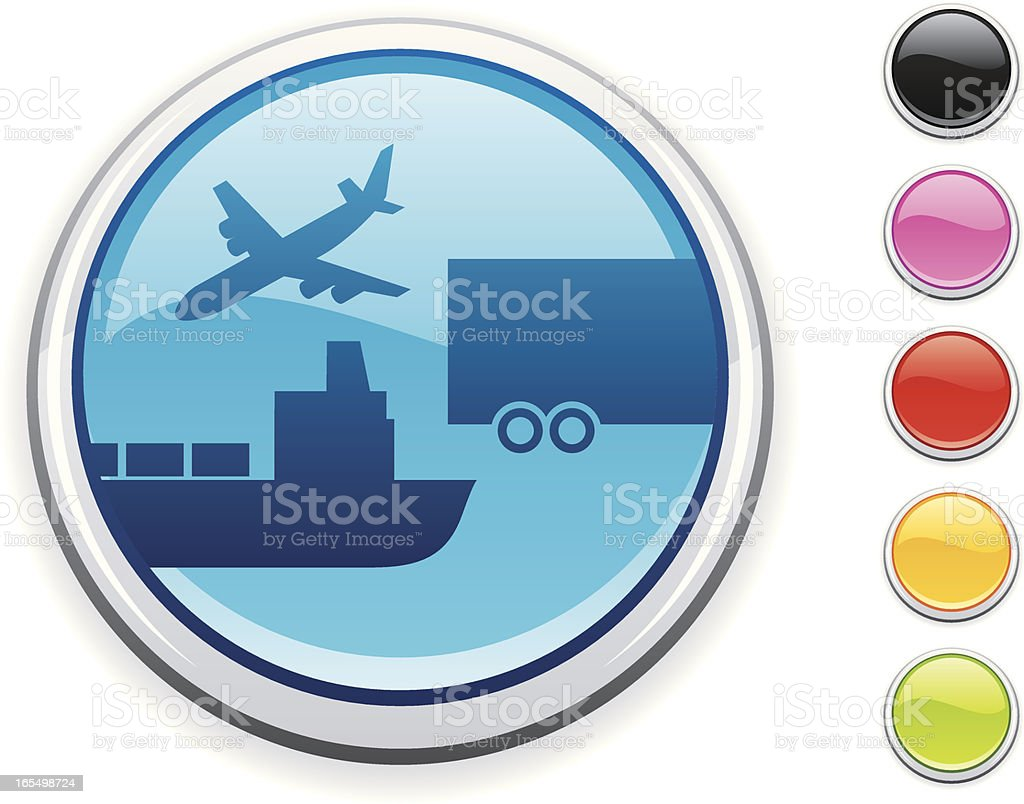 Transport icon royalty-free transport icon stock vector art & more images of airplane
