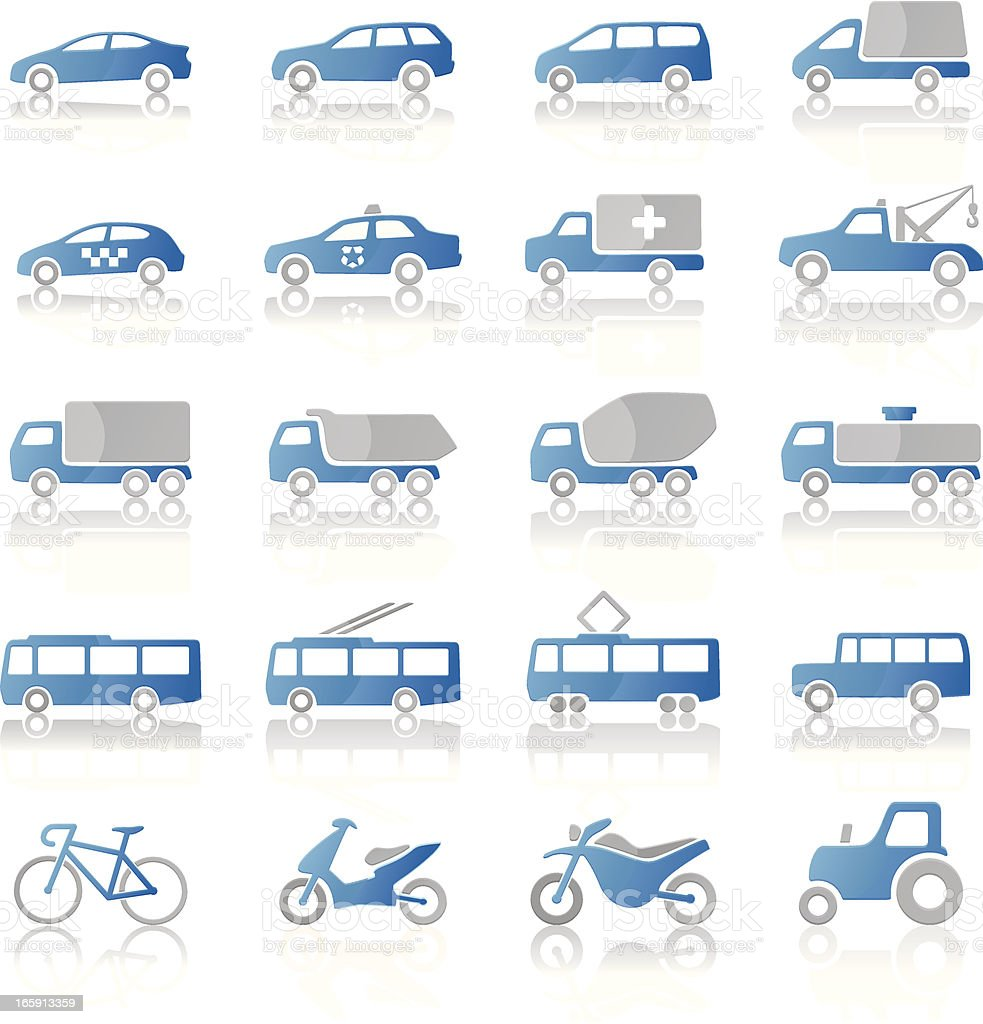 Transport icons: blue-gray royalty-free transport icons bluegray stock vector art & more images of 4x4