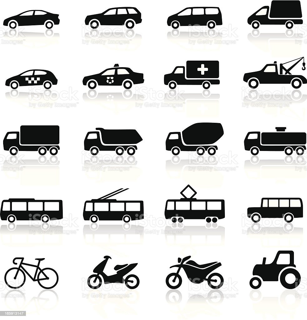 Transport icons royalty-free stock vector art