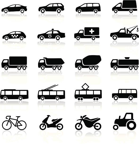 bildbanksillustrationer, clip art samt tecknat material och ikoner med transport icons - traktor pulling