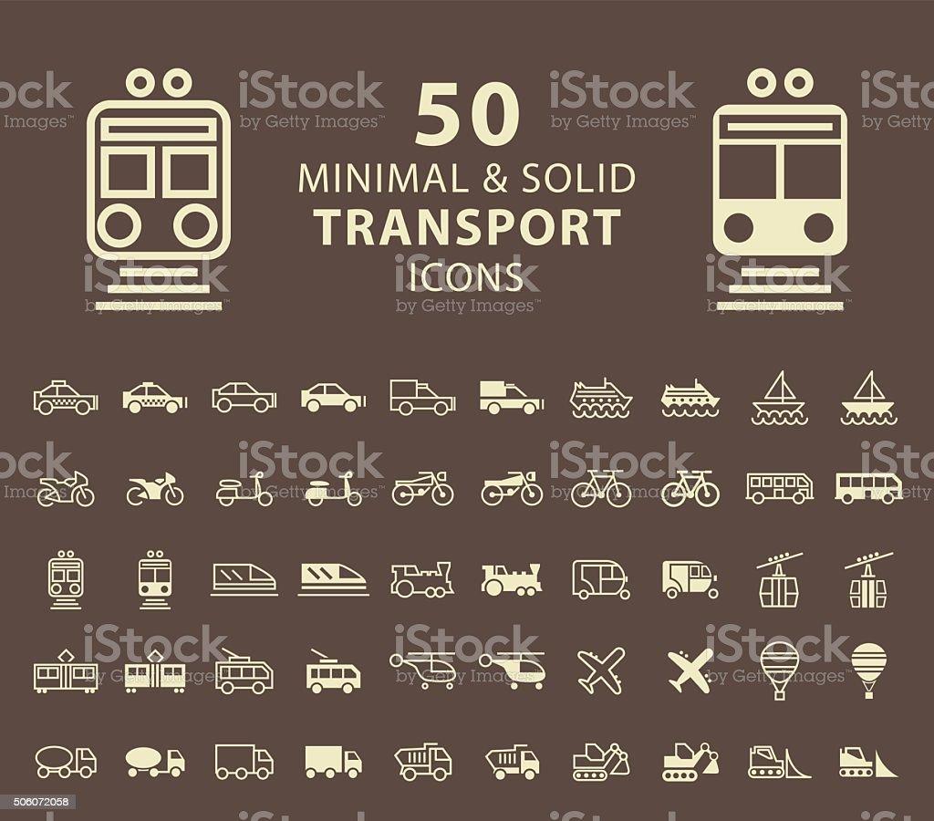 Transport-Icons. – Vektorgrafik