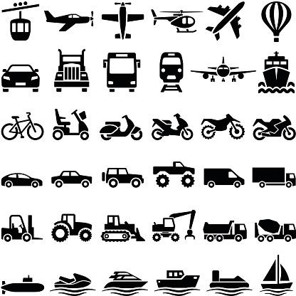 Icônes De Transport Vecteurs libres de droits et plus d'images vectorielles de 4x4