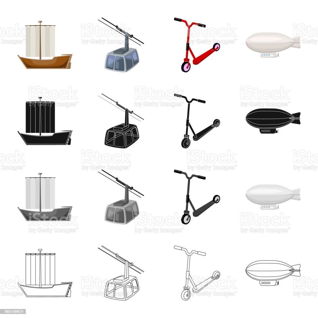 Transport, machinery, equipment and other web icon in cartoon style.Water, air, land, icons in set collection. royalty-free transport machinery equipment and other web icon in cartoon stylewater air land icons in set collection stock vector art & more images of blimp