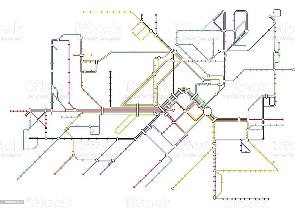 Transport Map vector art illustration