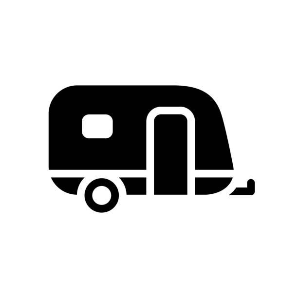 transport on the road - caravan stock illustrations