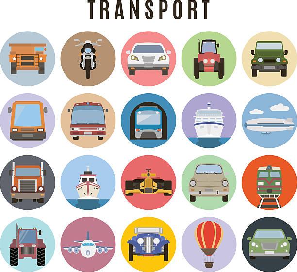 illustrazioni stock, clip art, cartoni animati e icone di tendenza di set di trasporto - subway