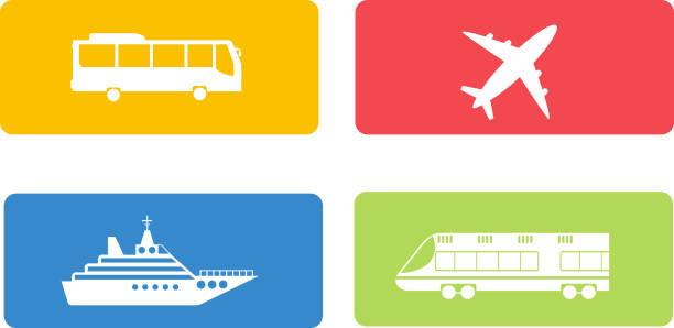transport symbols vector set. - バス点のイラスト素材/クリップアート素材/マンガ素材/アイコン素材