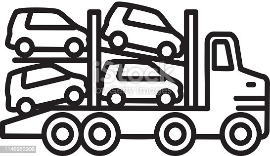 Vector illustration of an Transportation themed icon in outline line art style. Fully editable. EPS 10.