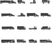 Transport Trucks Icons