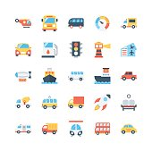 Beep beep! Here comes the Transport Vector Icons Pack to offer you anything from plane to train, automobile to boat motorcycles, steam engines, and more!