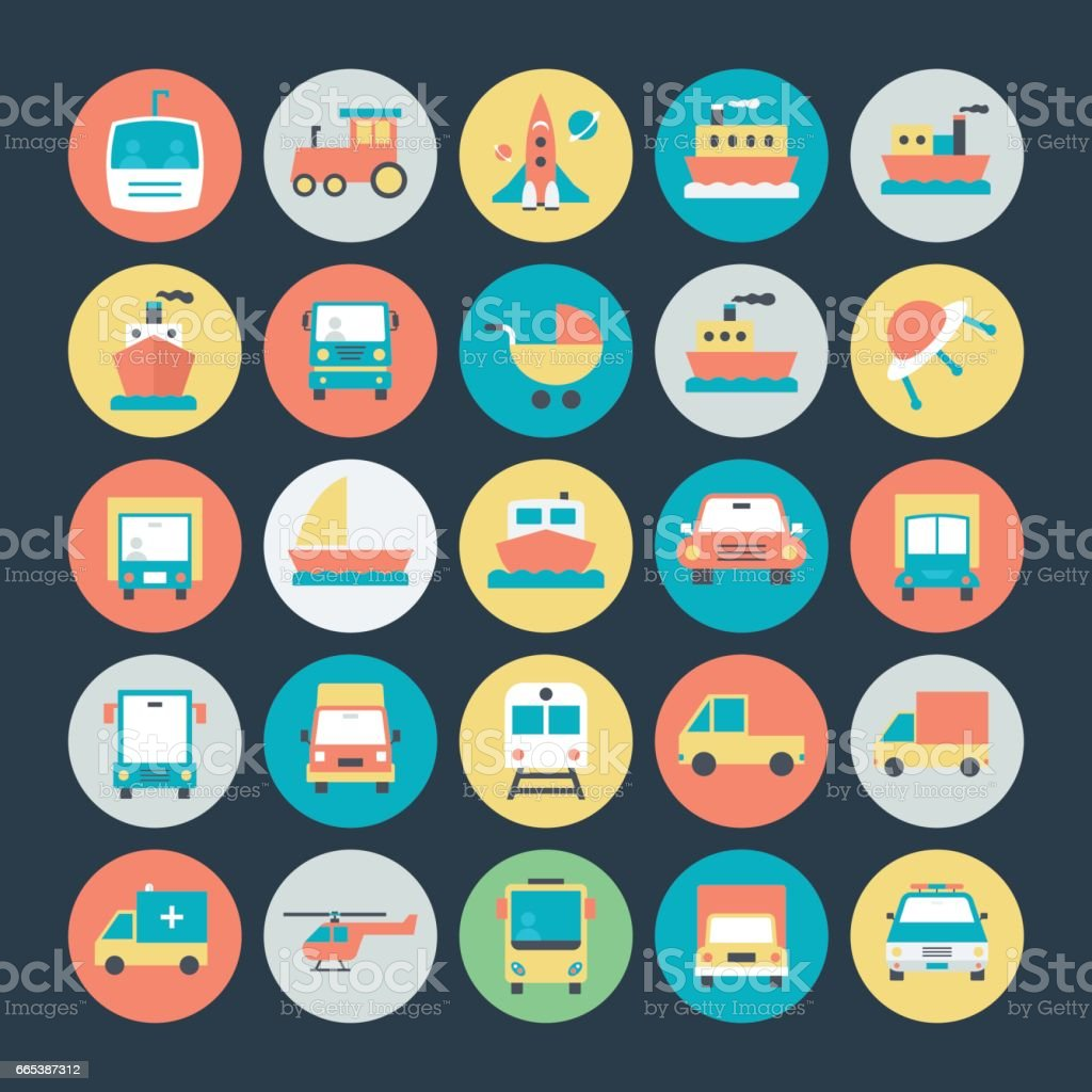 Transport Vector Icons 2 vector art illustration
