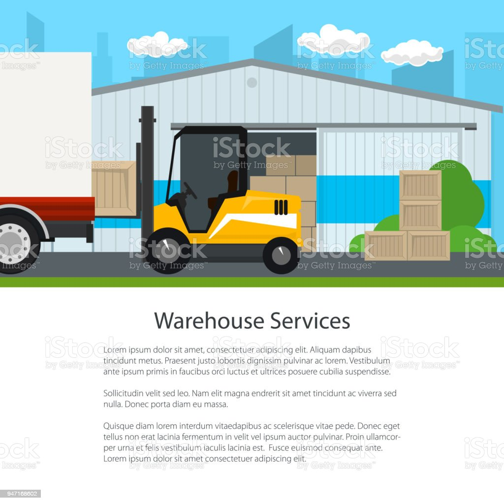Transportation And Cargo Services And Storage Stock Vector Art