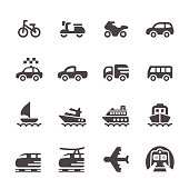 transportation and vehicles icon set 3, vector eps 10.