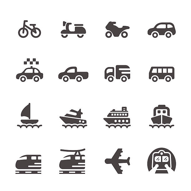 stockillustraties, clipart, cartoons en iconen met transportation and vehicles icon set 3, vector eps 10 - 2015