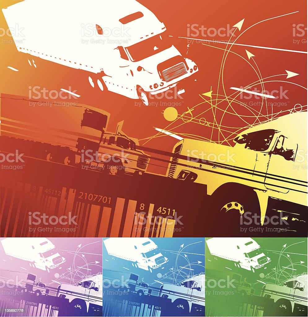 transportation background (vector) royalty-free stock vector art